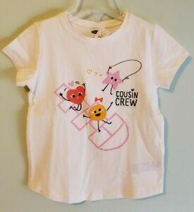 Old Navy Girls 12-18 18-24 MONTHS 2T 3T 5T Cousin Crew Tee CREAM T-Shirt #21120