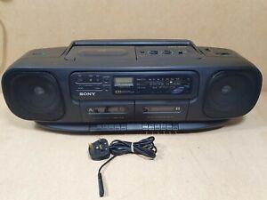 Sony CFD 100L Vintage Boom Box CD Cassette Player & Radio