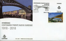 Spain 2018 FDC New Bridge Ourense Centenary 1v Cover Bridges Architecture Stamps