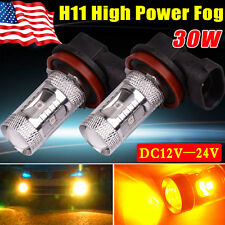2x Yita- High Power H11 30W Fog/Driving DRL Daytime Running LED Yellow DC12V-24V