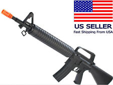 AIRSOFT Spring Powered Rifle Gun M4 /M16A1 Vietnam Style Tactical with BBs+Strap