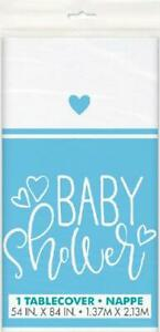 Baby Shower Blue Table Cover