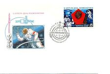 Russia 1985 Fdc cover and mint postcard 1974 y- Space Day, Communications