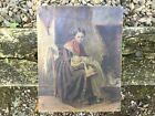 1877+English+Oil+painting+Mother+With+Child+Signed+With+Monogram+No+Reserve
