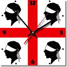Sveglia da parete, orologio 4 mori,sardegna MDF wall clock wood,bar, pub,casa