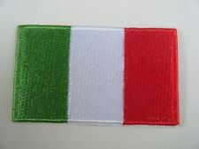 ITALY PATCH Quality Embroidered Iron On Italian National Flag ITALIA Badge NEW