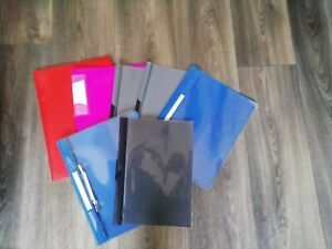 Unterlage Klemmhalter Ordner Kunststoff Klemmbrett Blau Purpur fuer Papier L1K7