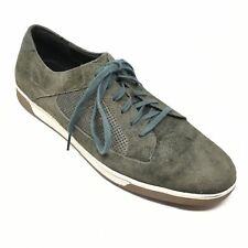 Men's Cole Haan Air Shoes Sneakers Size 12M Army Green Suede Casual Fashion AA7