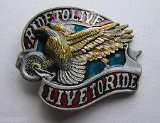 RIDE TO LIVE motero motos Eagle Cinturón Hebilla Para Poner En