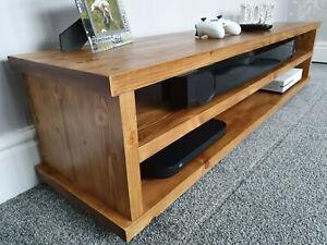 Tv stand, Solid wood , Handmade, Tudor Oak wax finish