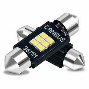 2x Ampoules Navettes LED C7W 39mm 12V 24V Blanc Xenon 6500K Canbus Anti erreur