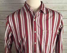 Nat Nast Men's Large American Fit Cotton Striped Button Front Shirt!