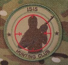 ISIS HUNTING CLUB TERRORIST HUNTER INFIDEL MULTICAM VELCRO® BRAND FASTENER PATCH