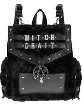 Restyle Witchcraft Faux Furry Gothic Pentagram Punk School Book Bag Backpack