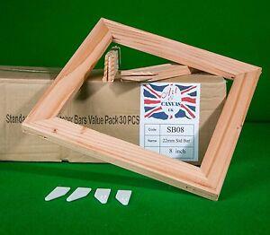 "8"" x 18mm Standard Canvas Pine Stretcher Bars, Value Pack ( 30 Bars Per Box )"