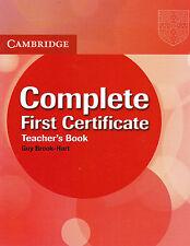 Cambridge COMPLETE FIRST CERTIFICATE FCE Teacher's book @BRAND NEW@