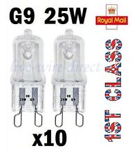 10 x G9 Halogen Light Bulbs Clear Capsule 240V 25W Watt Dimmable