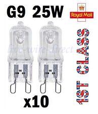 10 X G9 Ampoules Halogène Capsule Transparente 240V 25W Watts