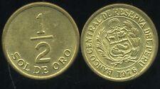 PEROU  1/2 sol de oro 1976