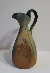 Weller Pottery Dickensware Pitcher Decor Collectable Dickens Ware Pottery