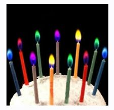 Multi Colored Birthday Cake Candles Safe Flames Wedding/Christmass Party Gift