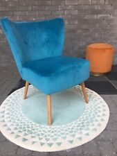Beautiful Small Culinary Concepts Blue Velvet Chair