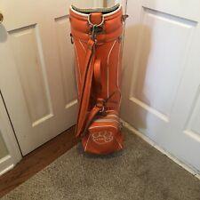 New listing Rare Vintage Ron Miller Clemson Tigers Cart Golf Bag6 Way Divider Faux Leather