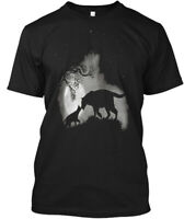 Cat &amp Panther Hanes Tagless Tee T-Shirt