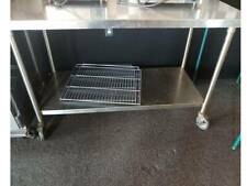 Restaurant Equipment Ss 30x60 Prep Table With Undershelf And Casters