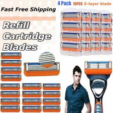 16Pcs for Gillette Fusion 5-Layer Men Razor Blade Refills Replacement Fast Ship