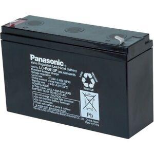 UK NK456 Panasonic 6V LC-R0612P Rechargeable Lead-acid battery 12 Ah (6.3mm)