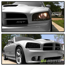 Smoke 2006-2010 Dodge Charger DRL LED Headlights w/Built In Corner Signal Lights