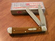 CASE XX New Antique Smooth Bone Handle 2 Blade Trapper Knife/Knives