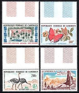 Cameroun C41-C44, MNH Hôtel, Papillons, Autruches, Wasa Reservation, 1962