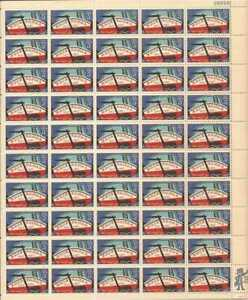 US Stamp - 1967 Erie Canal - 50 Stamp Sheet - Scott #1325