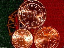 Set Unc Portugal 2007 Serie Euro 1,2,5 Centime Piece Neuve De Rouleau Fdc