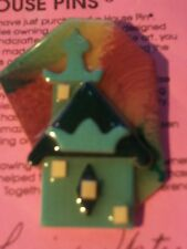 LUCINDA HOUSE PIN,COLORFUL,PALACE SHAPED ROOF,TEALS