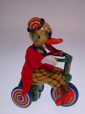 "Gsmoto ""Duck ON TRICYCLE"" Madson Giappone, 12cm, Wind Up OK, like NUOVO/NEW/Neuf!!!"
