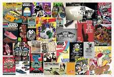 """33013 VANS OFF THE WALL POSTER 24""""x36"""" ADVERTISING GRAPHIC ART SIDE NEW SHEET"""
