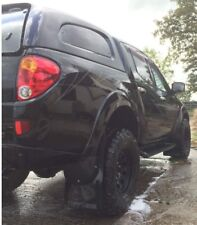 Mitsubishi L200 mudflaps Mk4 (2005 on) Black gloss 4mm pvc Genuine Tuff-rok