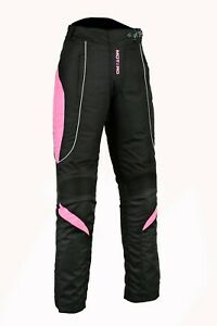 Ladies women Motorcycle CE Armoured Waterproof windproof Cordura Trouser Pant