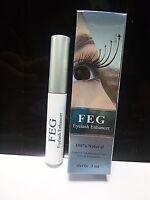 FEG Eyelash Enhancer Natural Growth Serum Longer Thicker Fuller Lashes Eyebrows