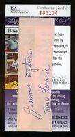 Jimmie Dykes Tom Ferrick Signed Jsa Certified Cut Authentic Autograph