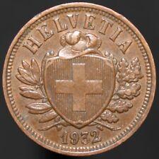 1932 B   Switzerland 2 Rappen   Bronze   Coins   KM Coins