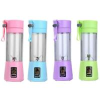 380ml USB Rechargeable Blender Mixer Portable Mini Juicer Juice Machine C#P5