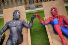 Spiderman Costume Cosplay Superhero.Halloween Spider Black Adult Homecoming Mask