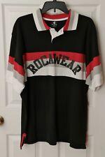 Rocawear Polo Shirt Black/Red/White/Gray Size 4XL