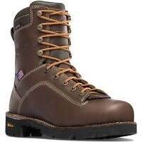 Danner Quarry Usa 8 Quot Brown At Leather Work Boots 17307