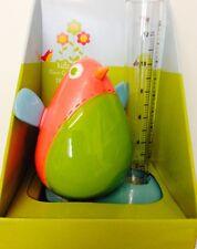 """✿ Garden Ceramica Robin Uccello 120mm 5 """"ACQUA piovana estintore misura Gauge ornamentale"""