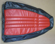 1973 AMC Gremlin Hornet USED bucket seat upper seat skin Black & Red vinyl
